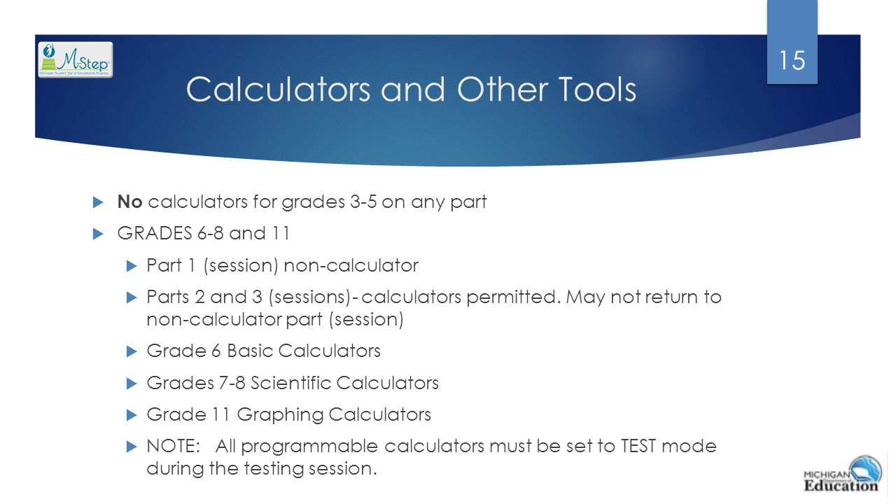 Calculators and Other Tools