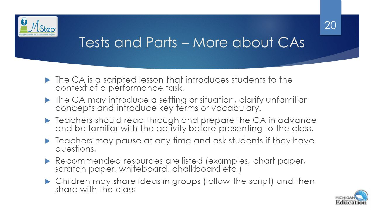 Tests and Parts – More about CAs