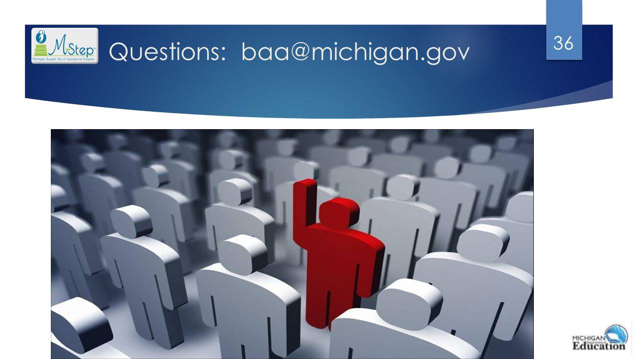 Questions: baa@michigan.gov