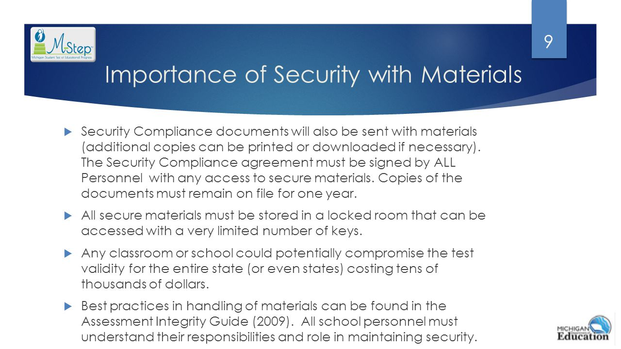 Importance of Security with Materials