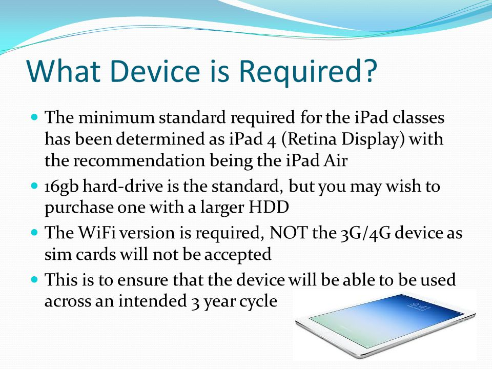 What Device is Required