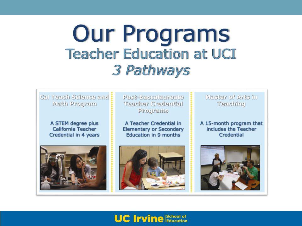 Teacher Education at UCI