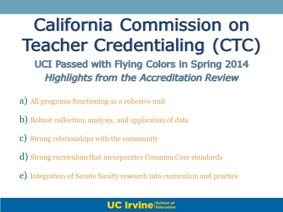 California Commission on Teacher Credentialing (CTC)