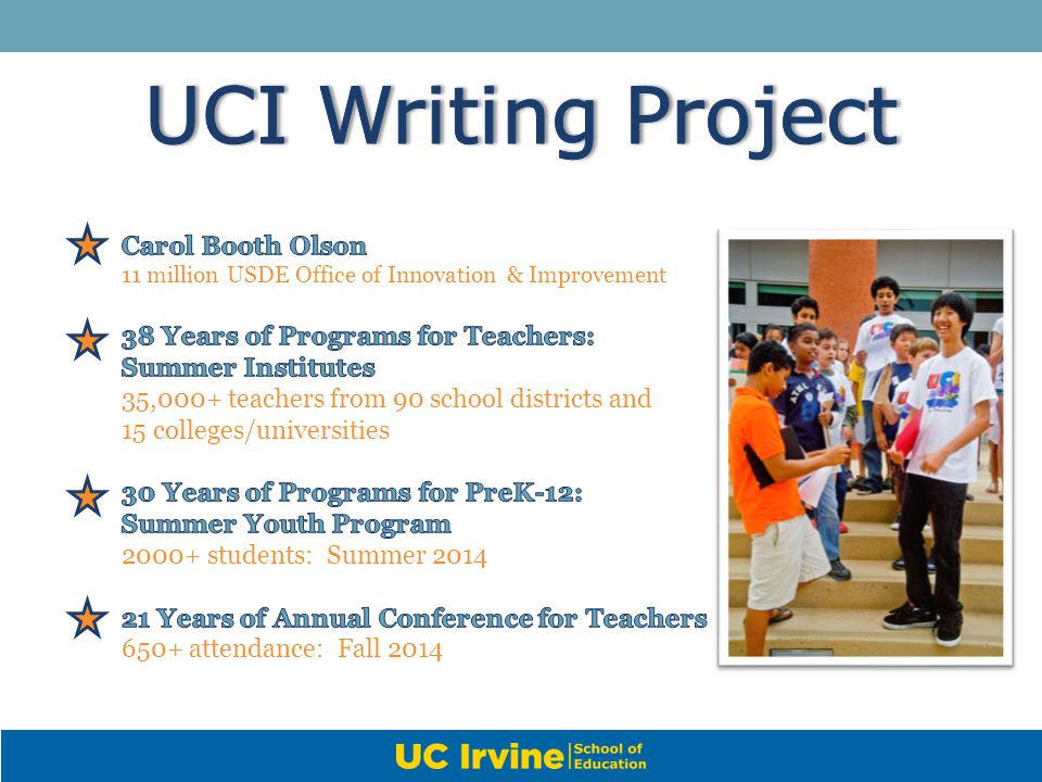 UCI Writing Project Carol Booth Olson
