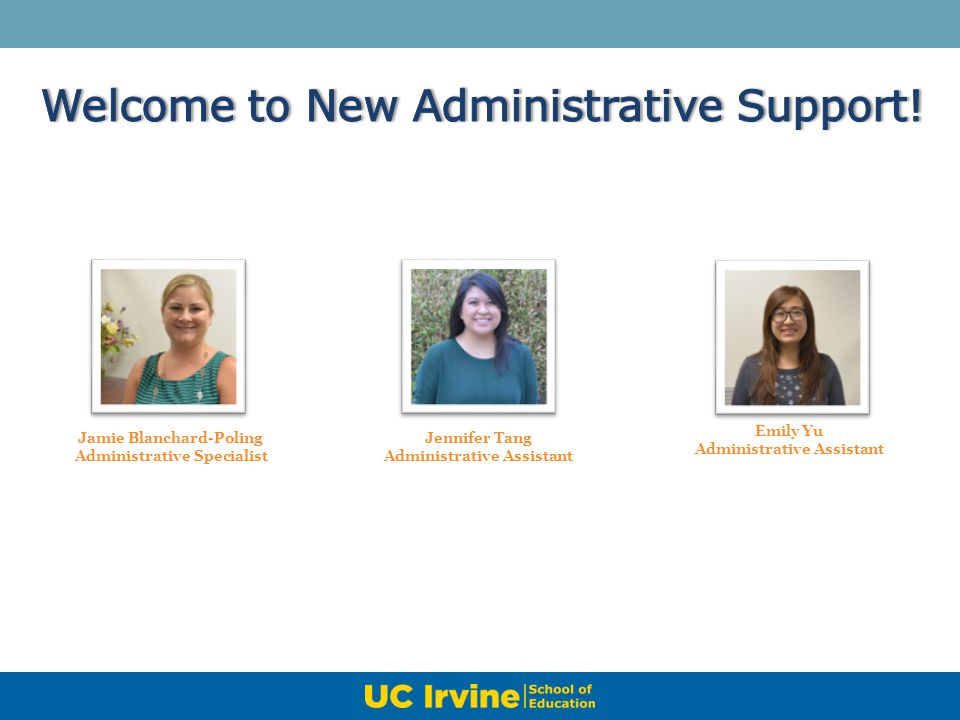 Welcome to New Administrative Support!