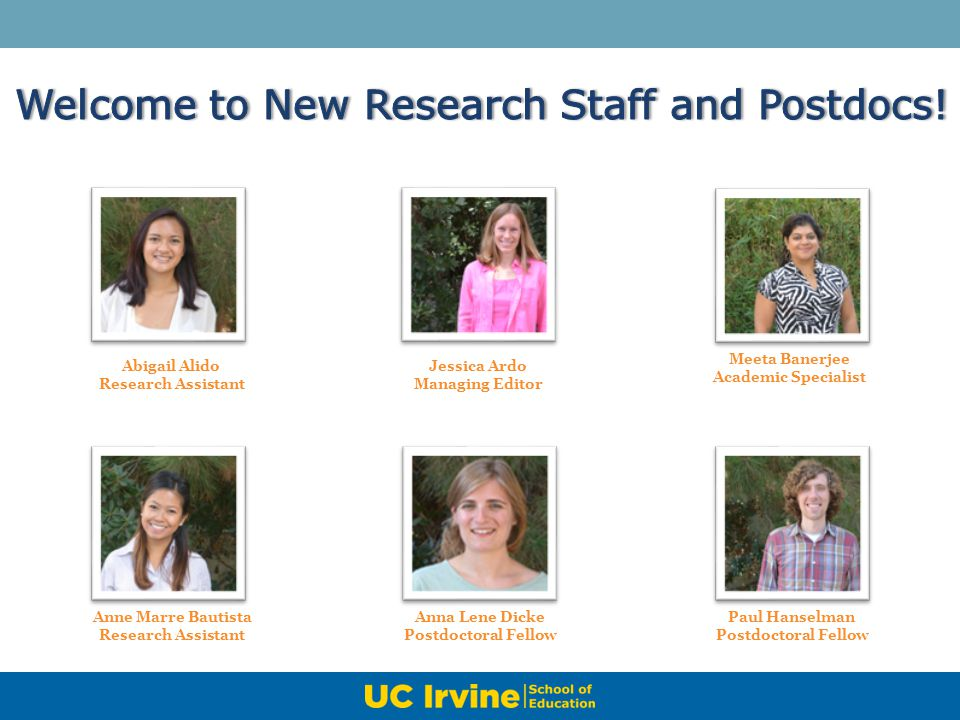 Welcome to New Research Staff and Postdocs!