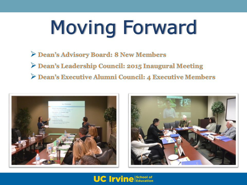 Moving Forward Dean's Advisory Board: 8 New Members