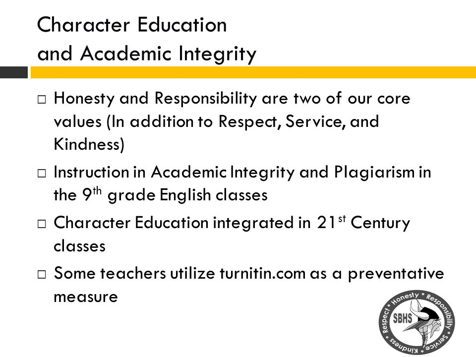 Character Education and Academic Integrity