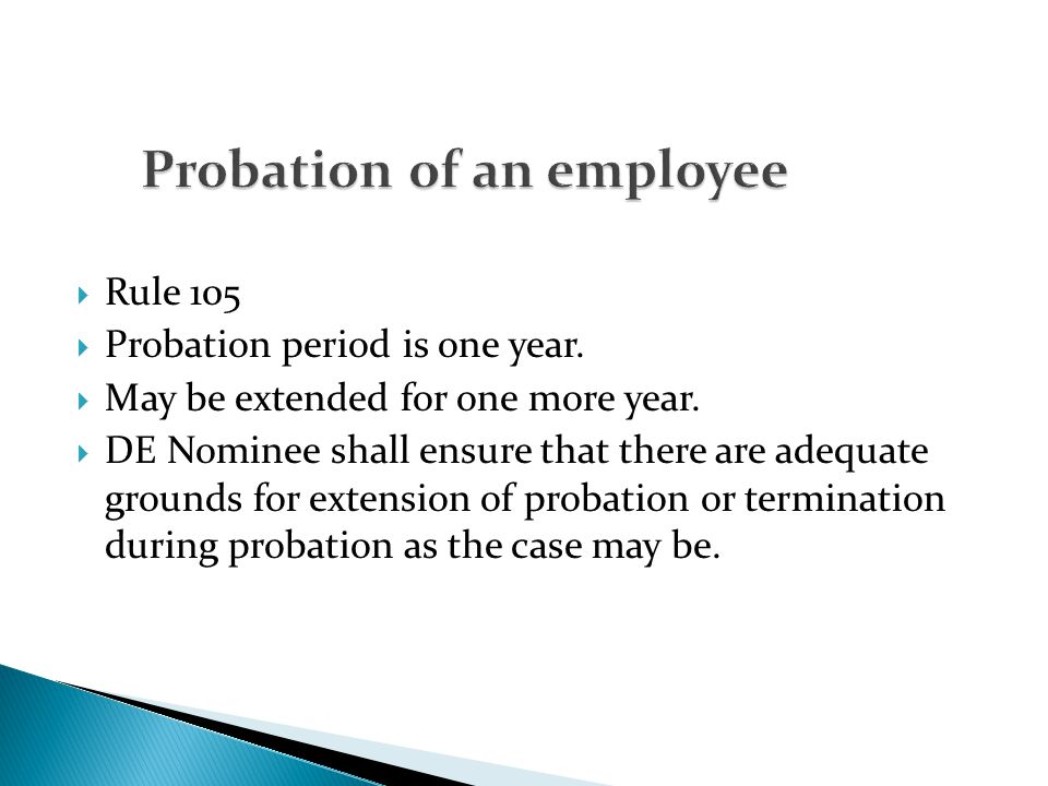 Probation of an employee