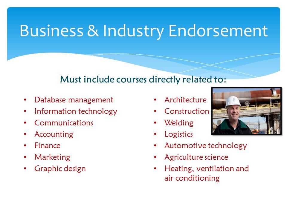 Business & Industry Endorsement