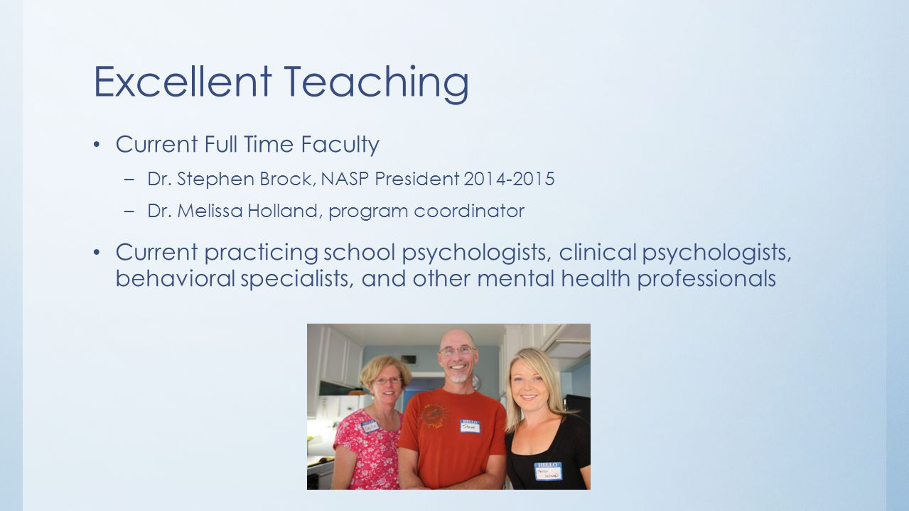 Excellent Teaching Current Full Time Faculty