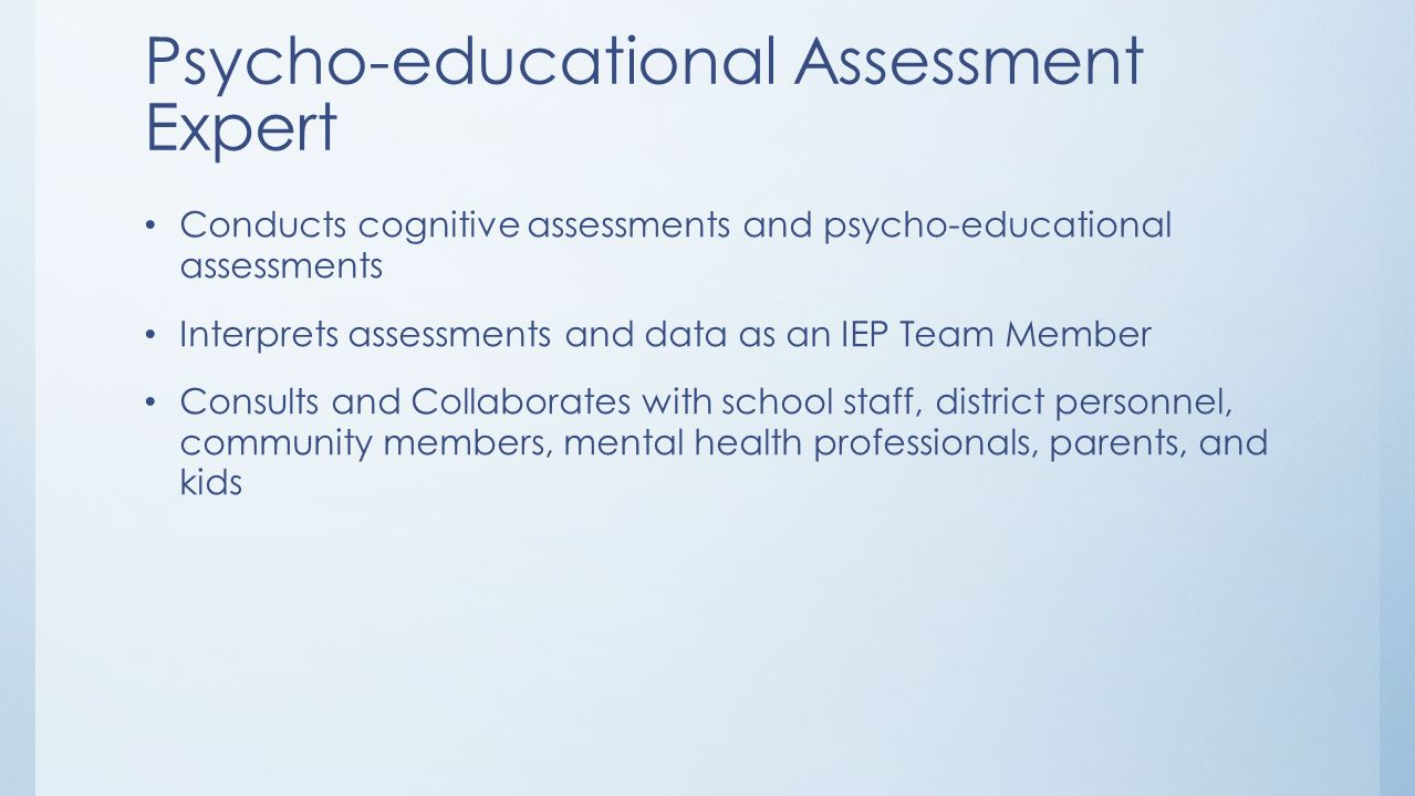 Psycho-educational Assessment Expert