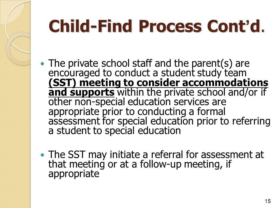 Child-Find Process Cont'd.