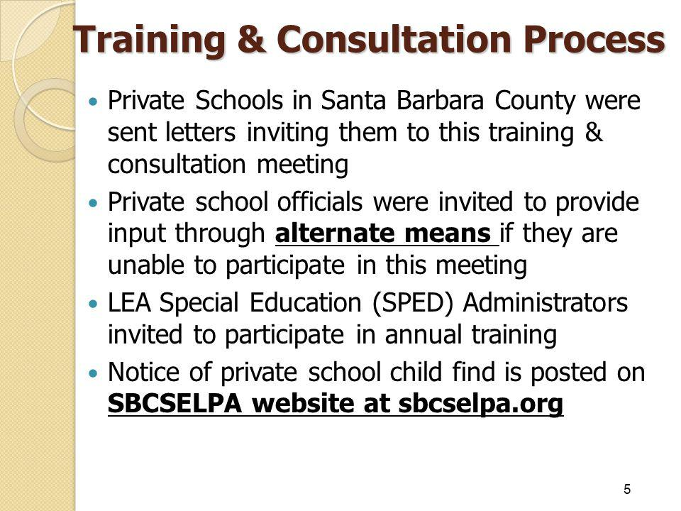 Training & Consultation Process