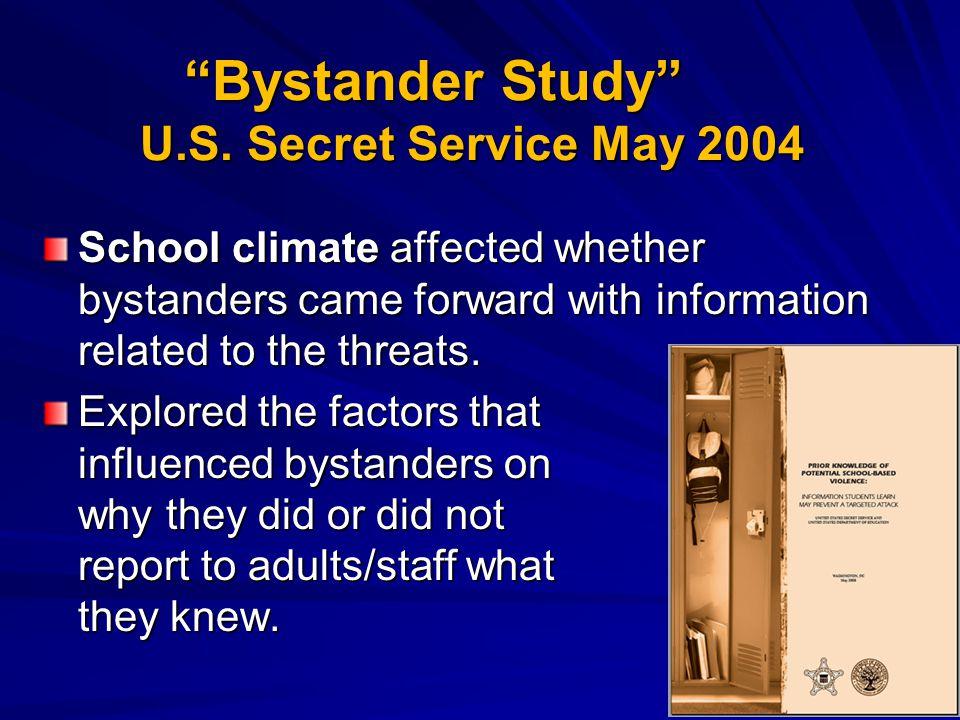 Bystander Study U.S. Secret Service May 2004