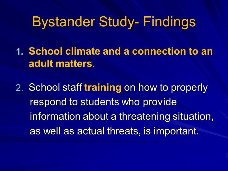 Bystander Study- Findings