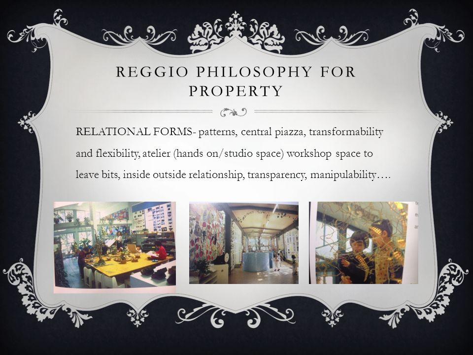 REGGIO PHILOSOPHY FOR Property