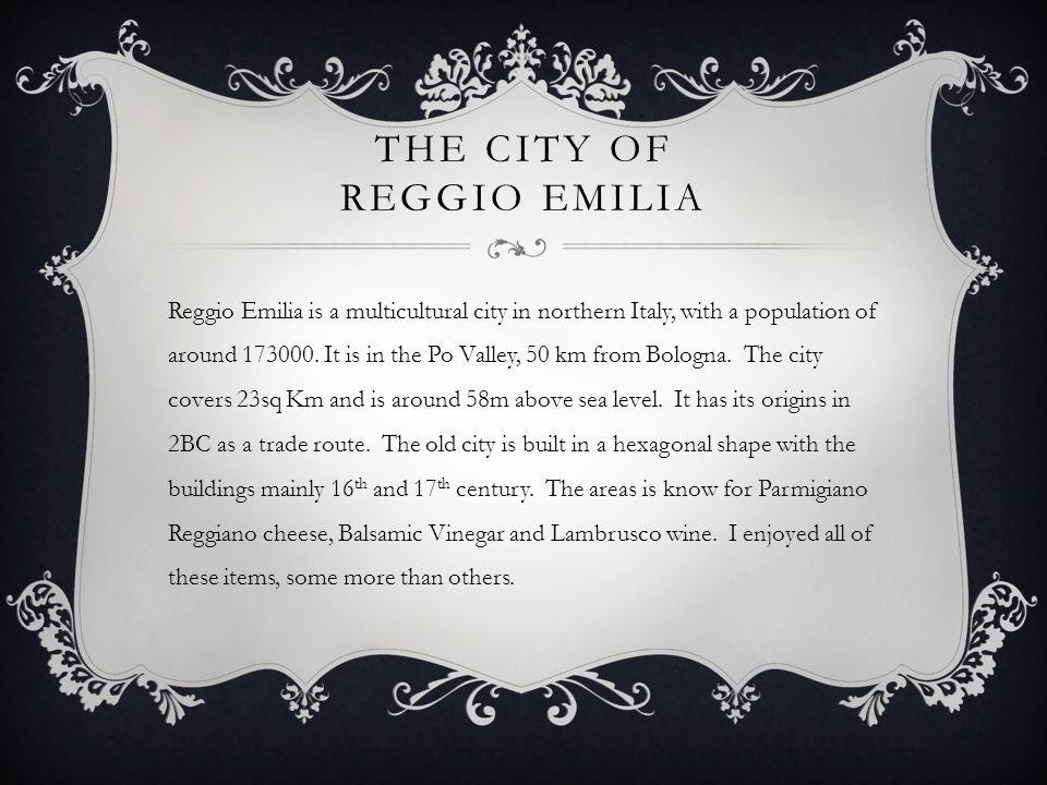 The city of Reggio emilia