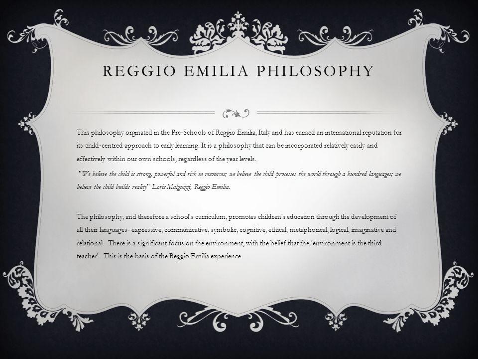 Reggio emilia philosophy