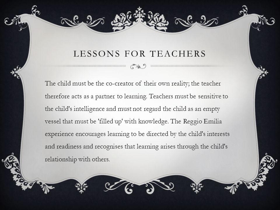 Lessons for teachers