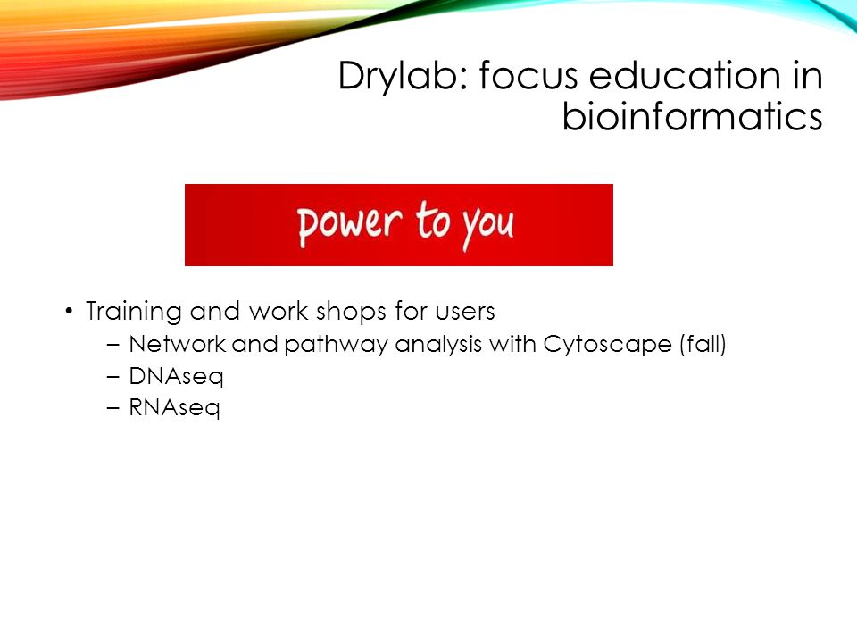 Drylab: focus education in bioinformatics