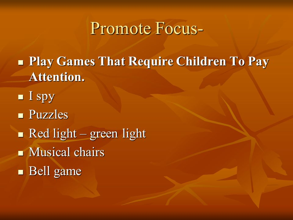 how to help child focus and pay attention