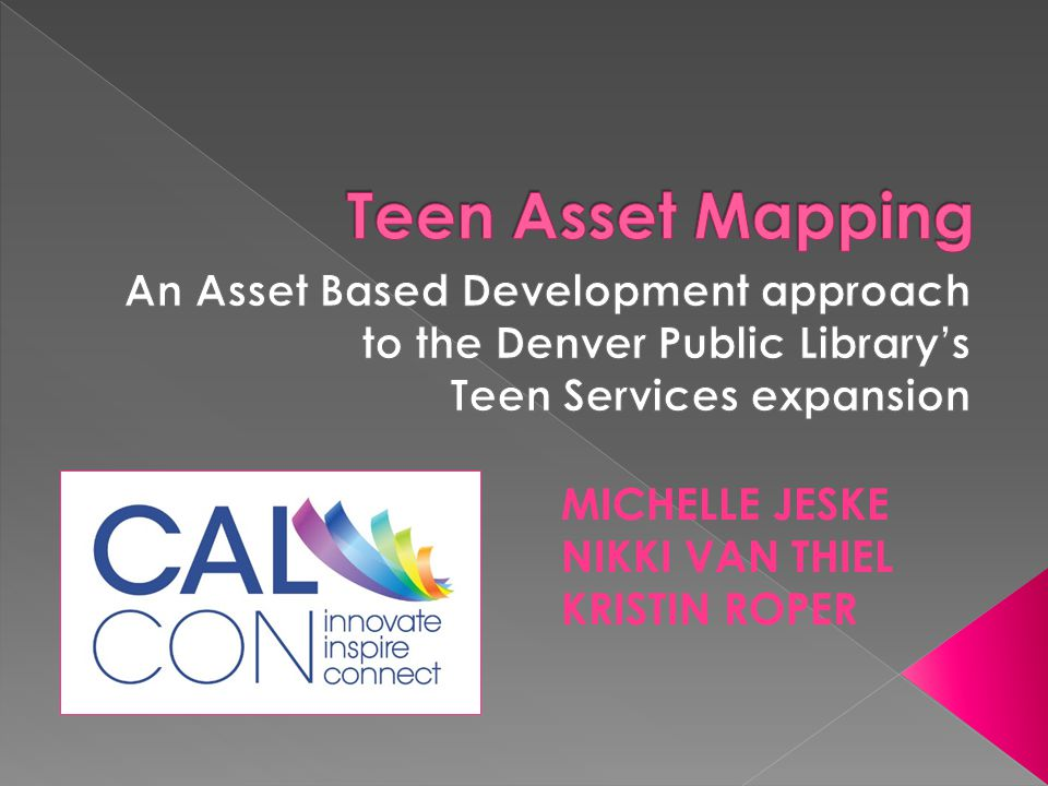 Teen Asset Mapping An Asset Based Development approach