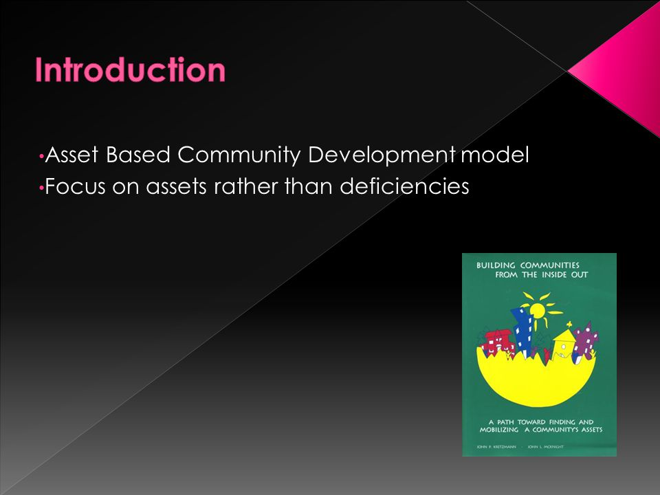 Introduction Asset Based Community Development model