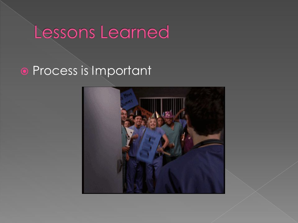 Lessons Learned Process is Important Nikki