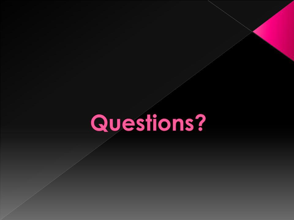 Questions Kristin.