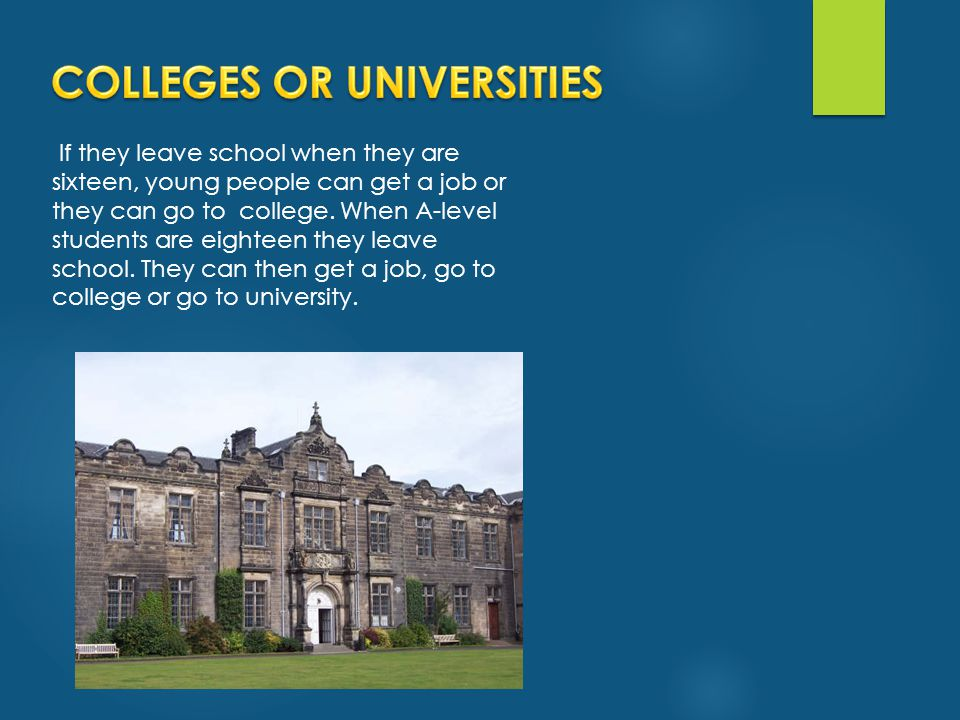 COLLEGES OR UNIVERSITIES
