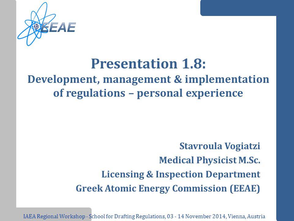 Presentation 1.8: Development, management & implementation