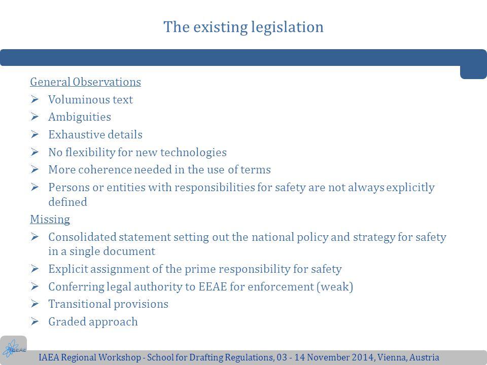 The existing legislation
