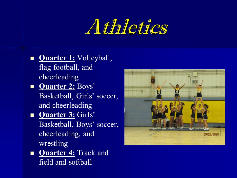 Athletics Quarter 1: Volleyball, flag football, and cheerleading