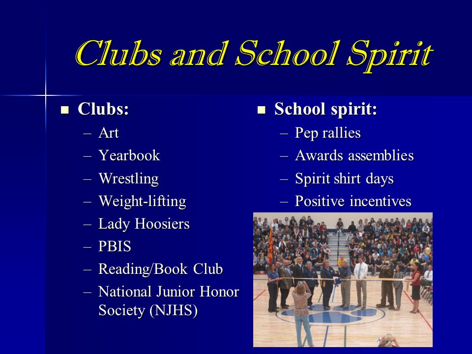 Clubs and School Spirit