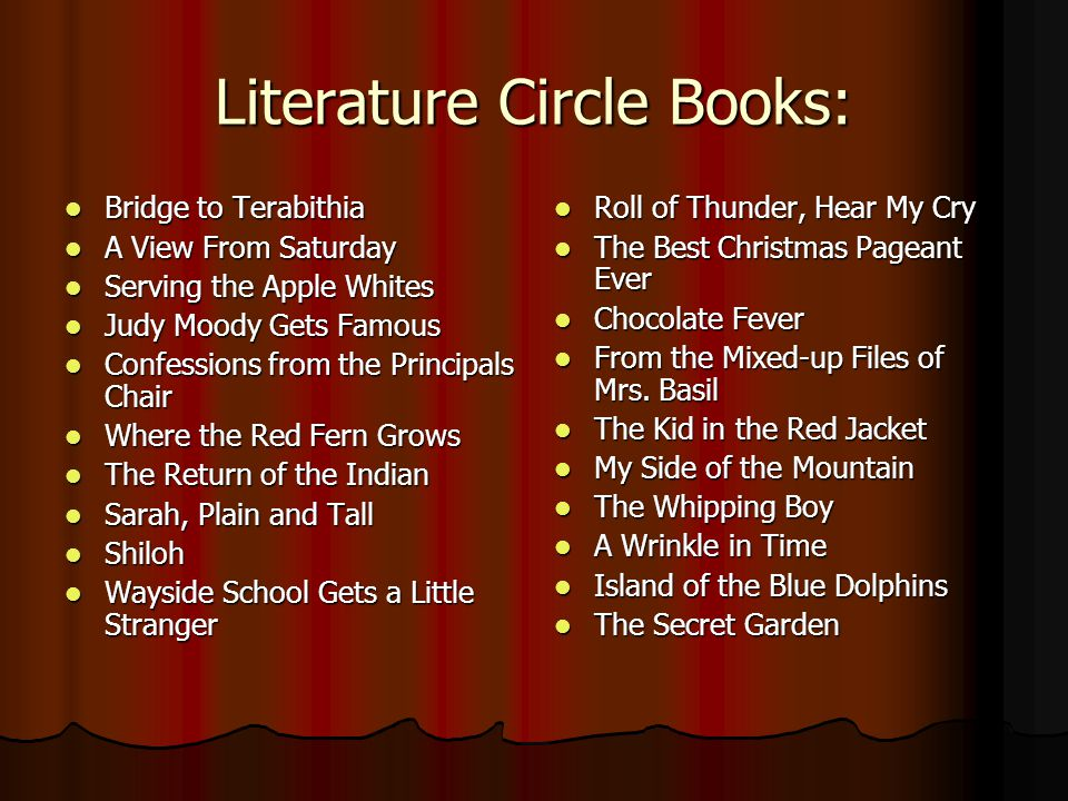 Literature Circle Books: