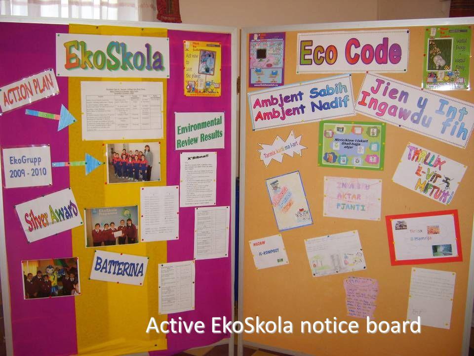 Active EkoSkola notice board