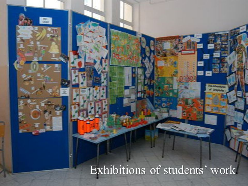 Exhibitions of students' work