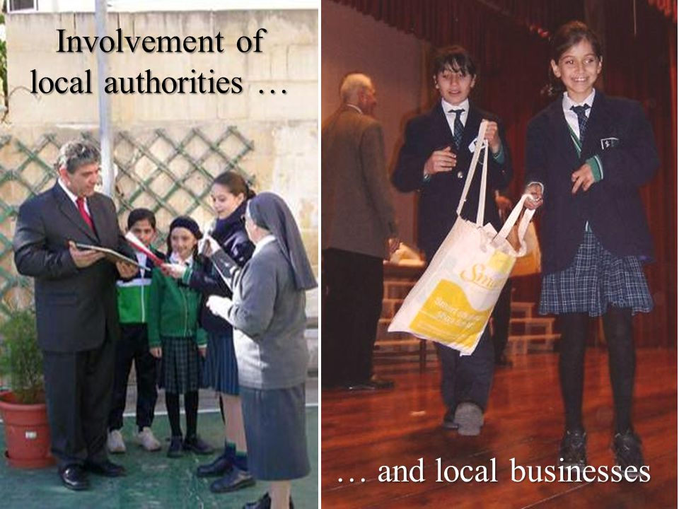 Involvement of local authorities …