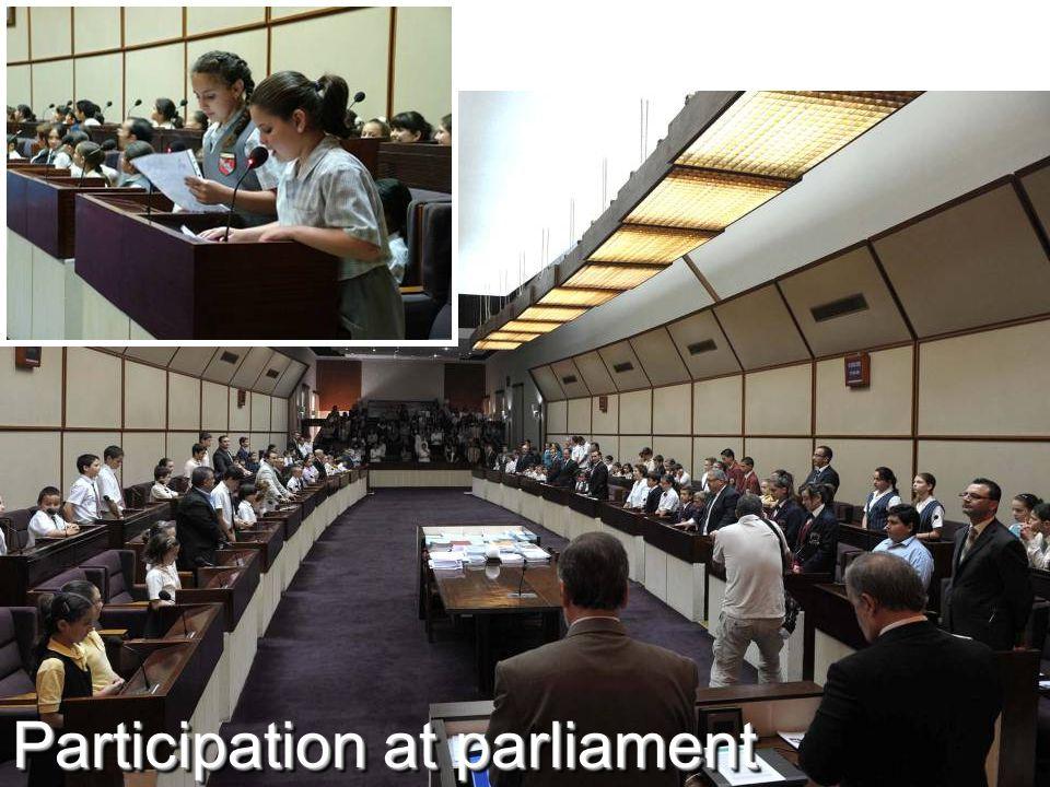 Participation at parliament