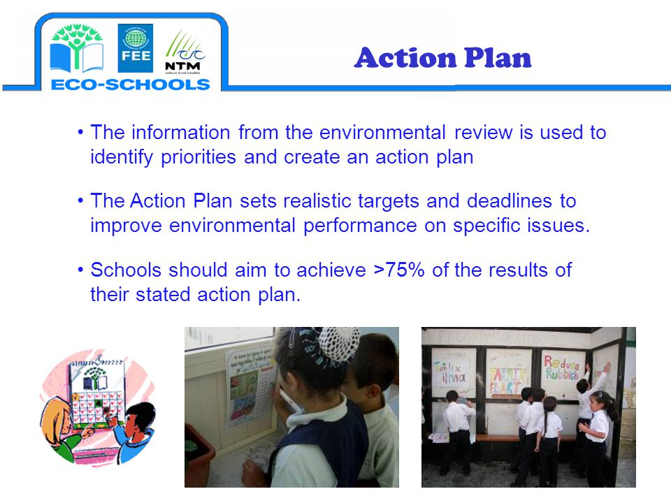 Action Plan The information from the environmental review is used to identify priorities and create an action plan.