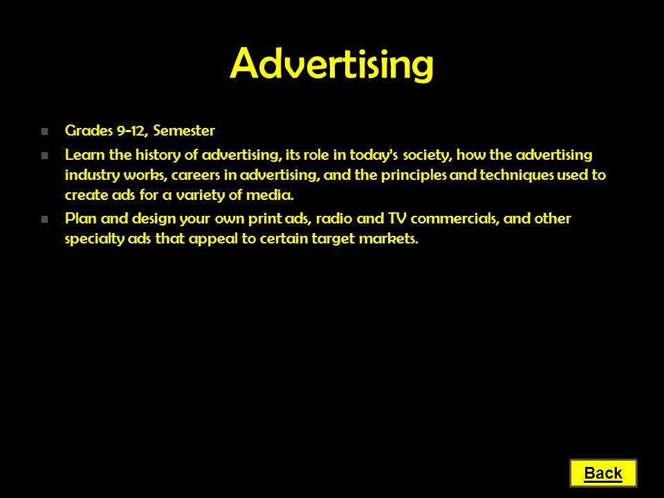 Advertising Grades 9-12, Semester