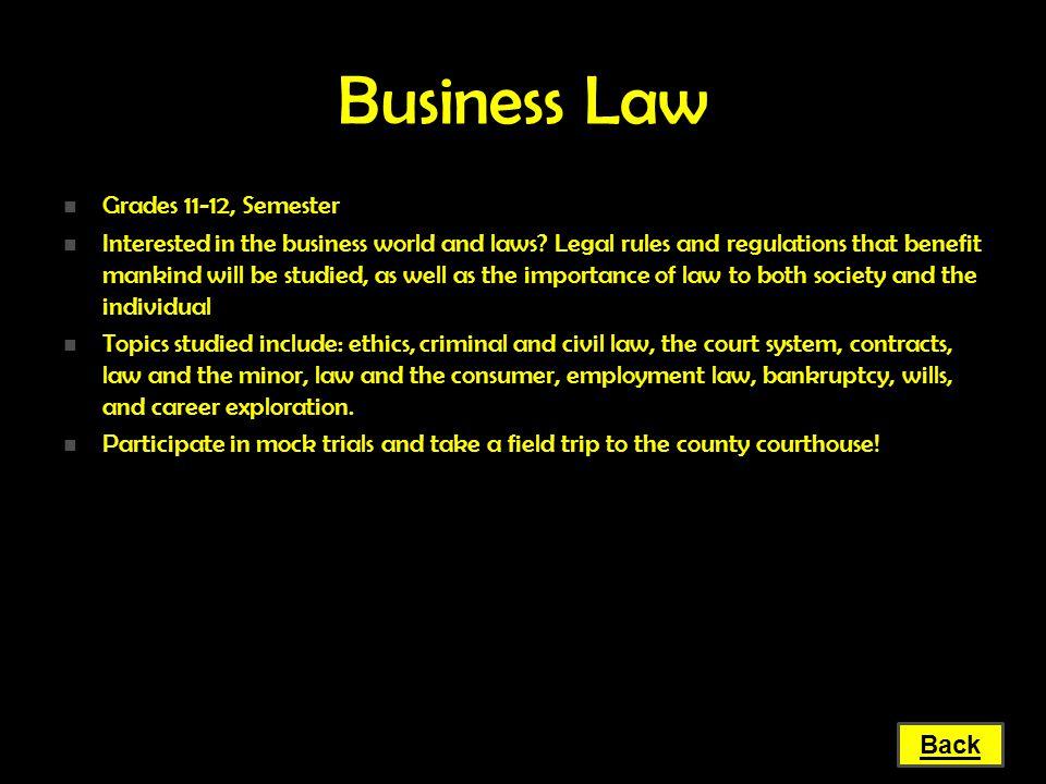 Business Law Grades 11-12, Semester