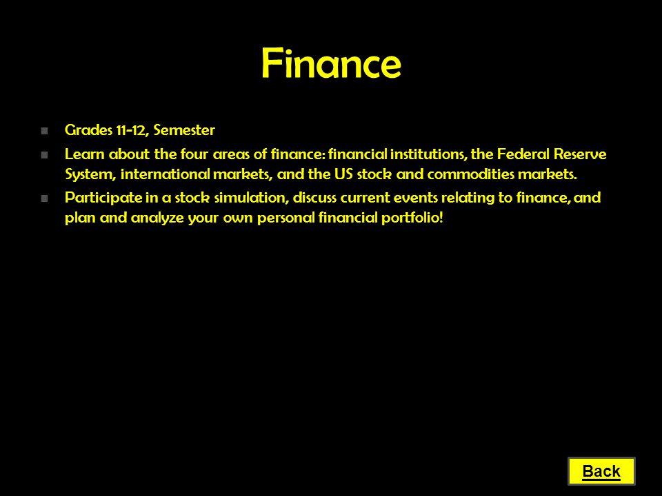 Finance Grades 11-12, Semester