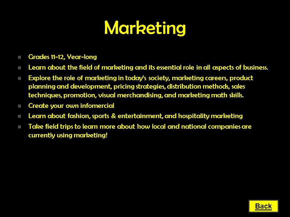 Marketing Grades 11-12, Year-long