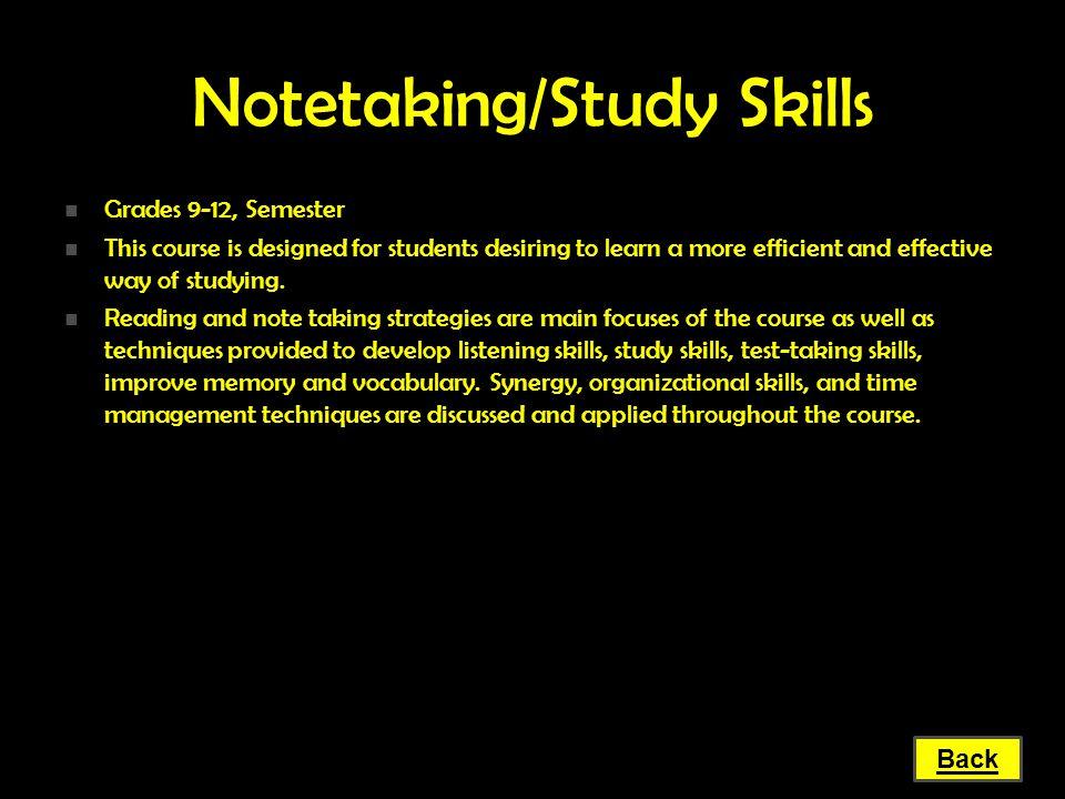 Notetaking/Study Skills