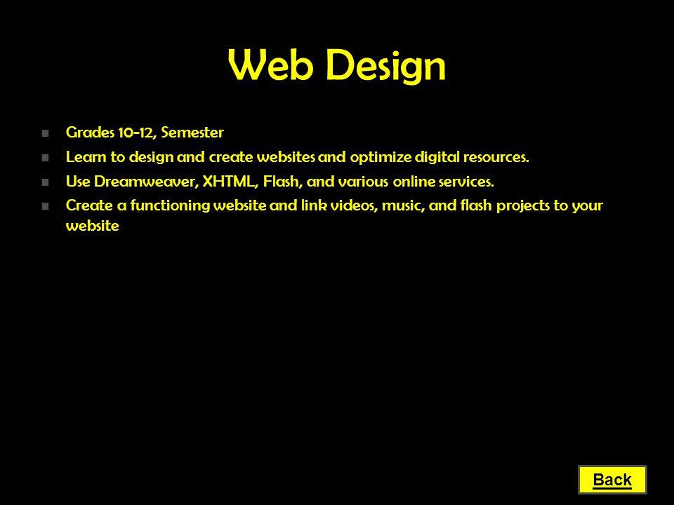 Web Design Grades 10-12, Semester