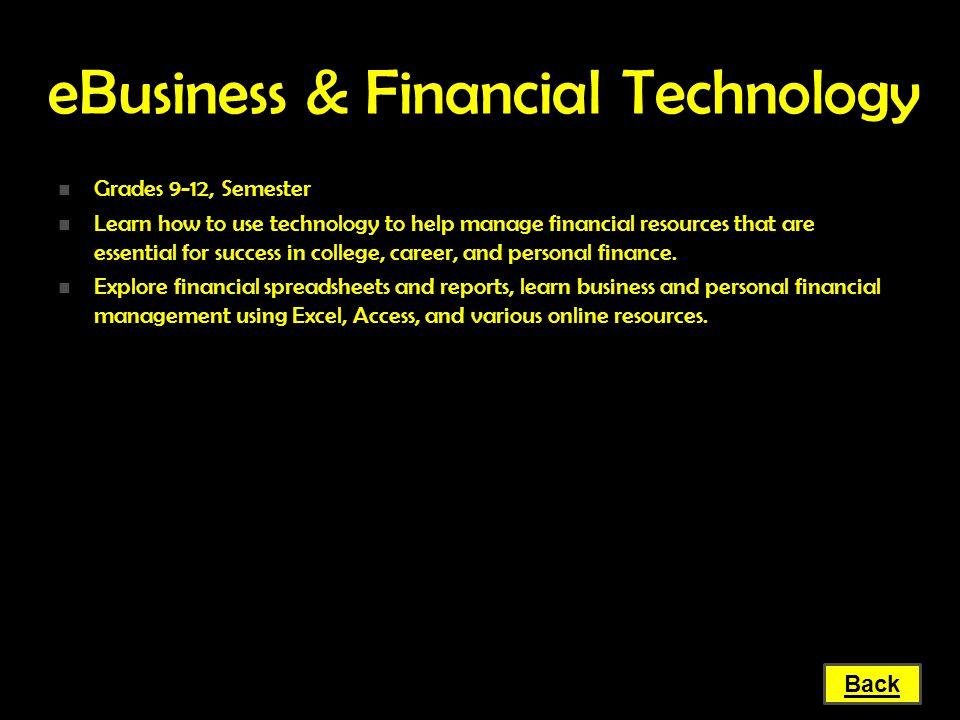 eBusiness & Financial Technology