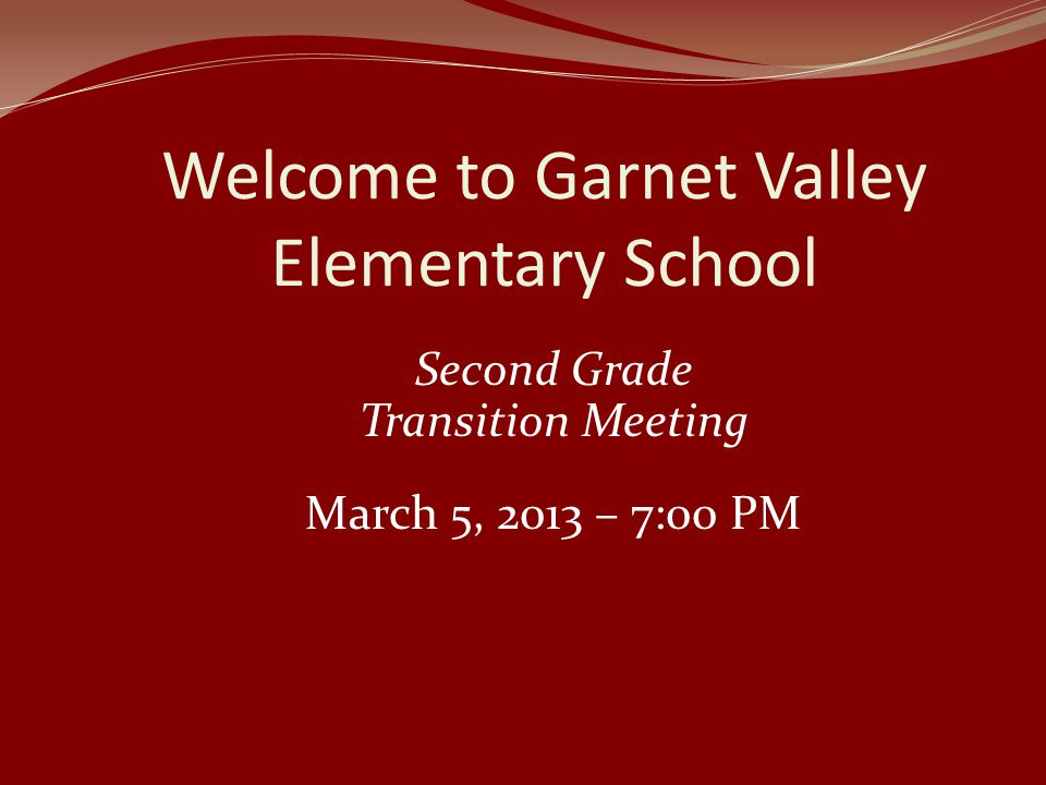 Welcome to Garnet Valley Elementary School