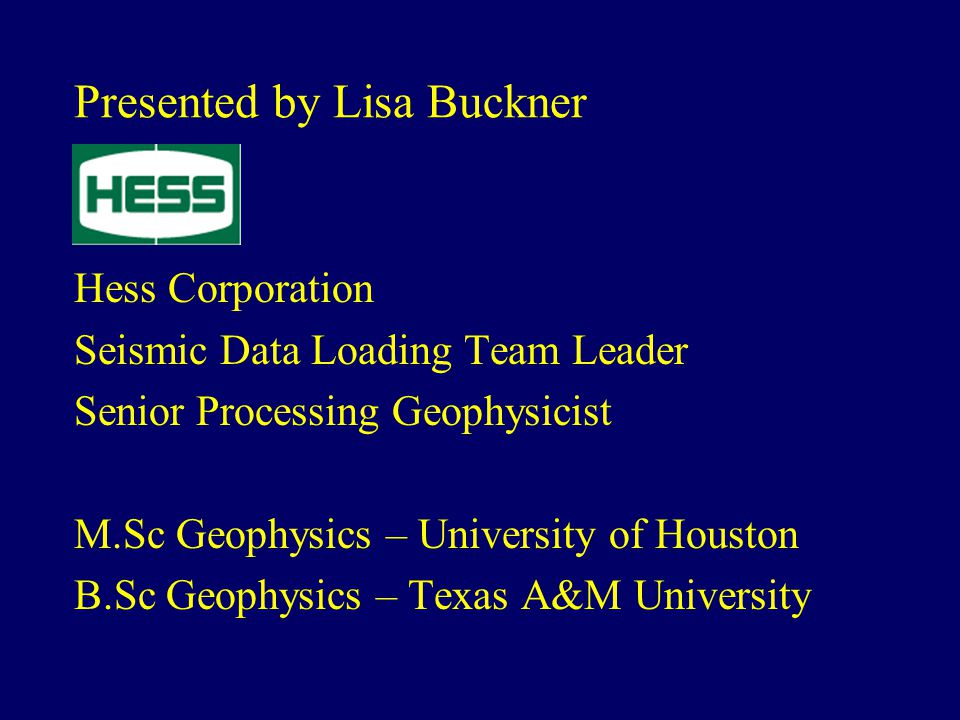 Presented by Lisa Buckner